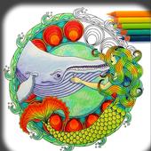 Mandala Coloring Book Adults icon