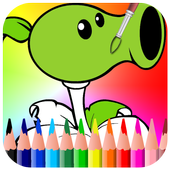 Coloring Book for Plants and Zombie icon