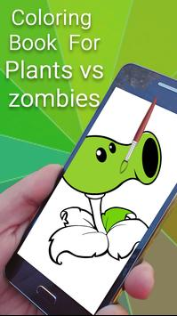 Coloring Book for Plants and Zombie poster