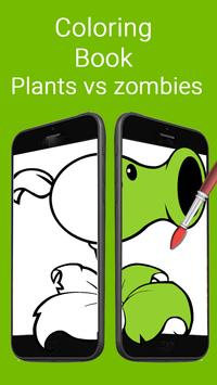 Coloring Book for Plants and Zombie apk screenshot