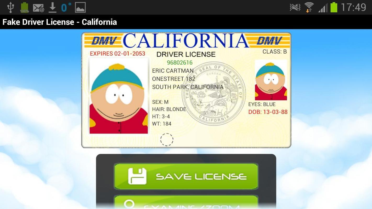 fake drivers license generator free