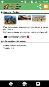 Radios Folkloricas del Peru apk screenshot