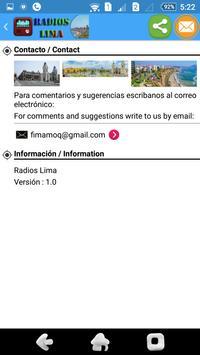 Radios Lima apk screenshot
