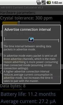 nRF8001 Current Calculator apk screenshot