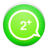 Two account for WhatsApp icon