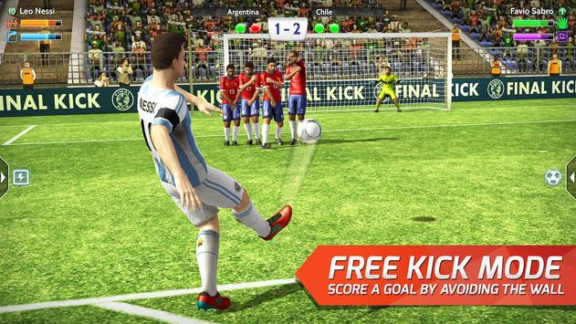 Final kick 2018: Online football apk screenshot