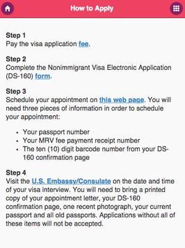 Apply US Visa apk screenshot