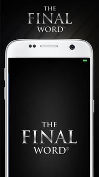 THE FINAL WORD poster