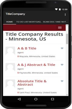 Find Title Company Directory apk screenshot