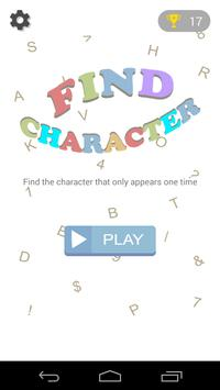 Find Character poster