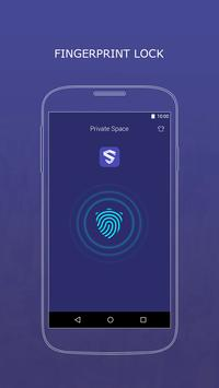 Private Space-fingerprint lock poster