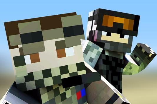 Military skins for Minecraft poster