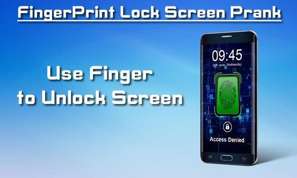 Fingerprint Lock Screen Prank screenshot 1