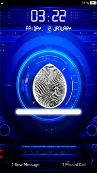 Fingerprint Lock Screen-Prank poster