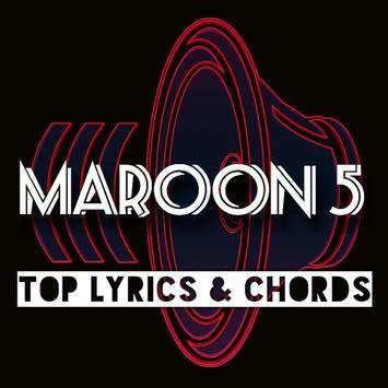 Maroon 5 Chords Lyrics poster