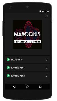 Maroon 5 Chords Lyrics screenshot 1