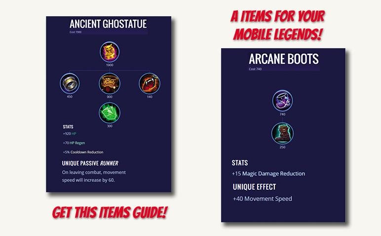 Items Mobile Legends Bang Bang Guide for Android - APK Download