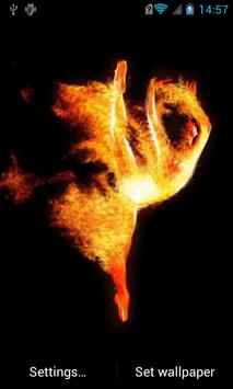 Fiery ballerina Live Wallpaper poster