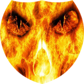 Skull in flames Live Wallpaper icon