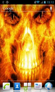 Skull in flames Live Wallpaper apk screenshot