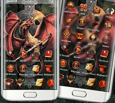 Fire Dragon Cross Sword Theme screenshot 4