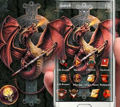 Fire Dragon Cross Sword Theme screenshot 2