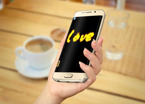كتابة إسمك بالنار بإصبعك apk screenshot