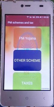 PM schemes and tax poster