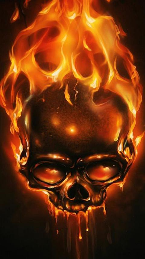 Fire Skulls Live Wallpaper For Android Apk Download