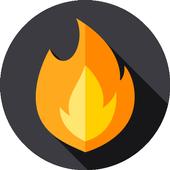Hot Fire Wallpaper HD icon