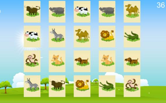 Animals for kids - Memory Game apk screenshot