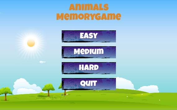 Animals for kids - Memory Game poster