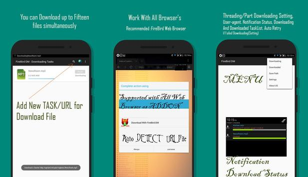 FireBird - Download Manager ( Multithreading ) for Android