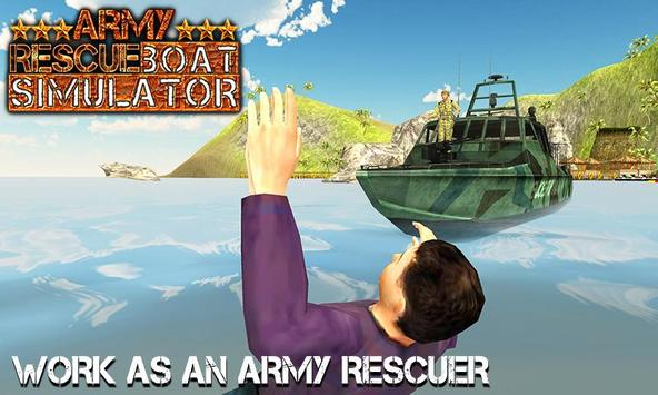 Army Rescue Boat Simulator 3D poster