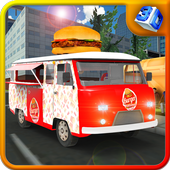 Burger Hawker Delivery Truck icon