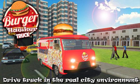 Burger Hawker Delivery Truck poster