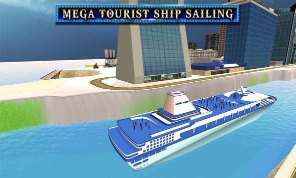 City Tourist Cruise Ship poster