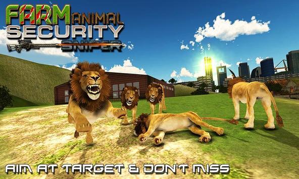 Farm Animal Security Sniper poster
