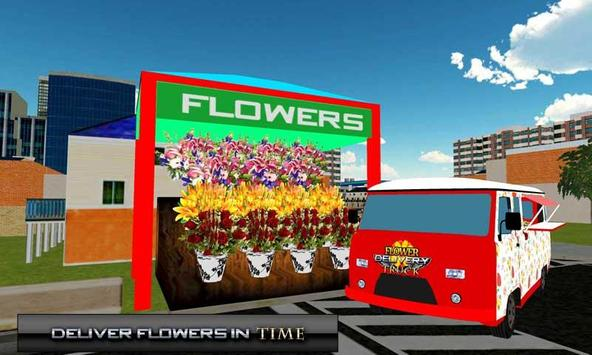 Fresh Flower Delivery Truck 3D poster