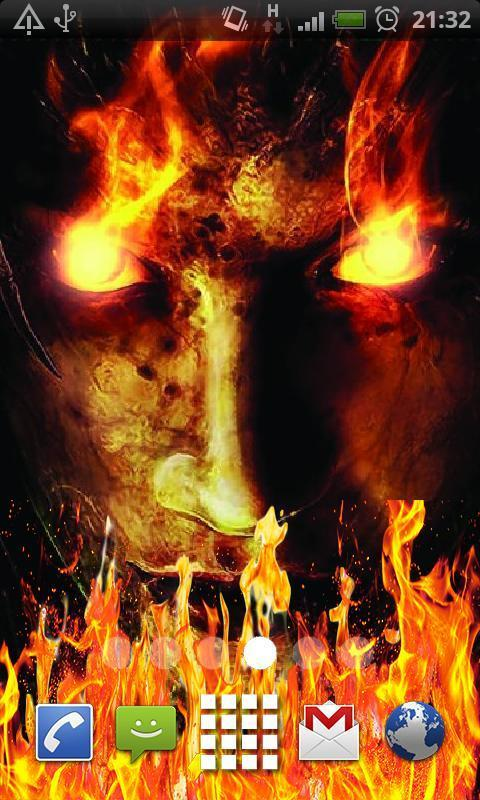 Fire Demon Live Wallpaper Poster
