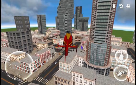 Helicopter Simulator: Firefighter Rescue Flight 3D screenshot 1