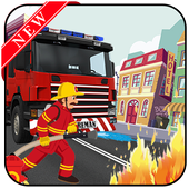 fireman hero & rescue adventure game 2018 icon