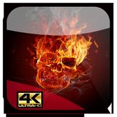 fire skull wallpaper 3d icon