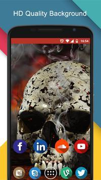 fire skull wallpaper 3d screenshot 4