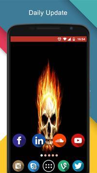 fire skull wallpaper 3d screenshot 1