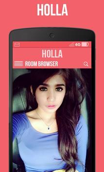 Hot HOLLA Live Chatroulette apk screenshot
