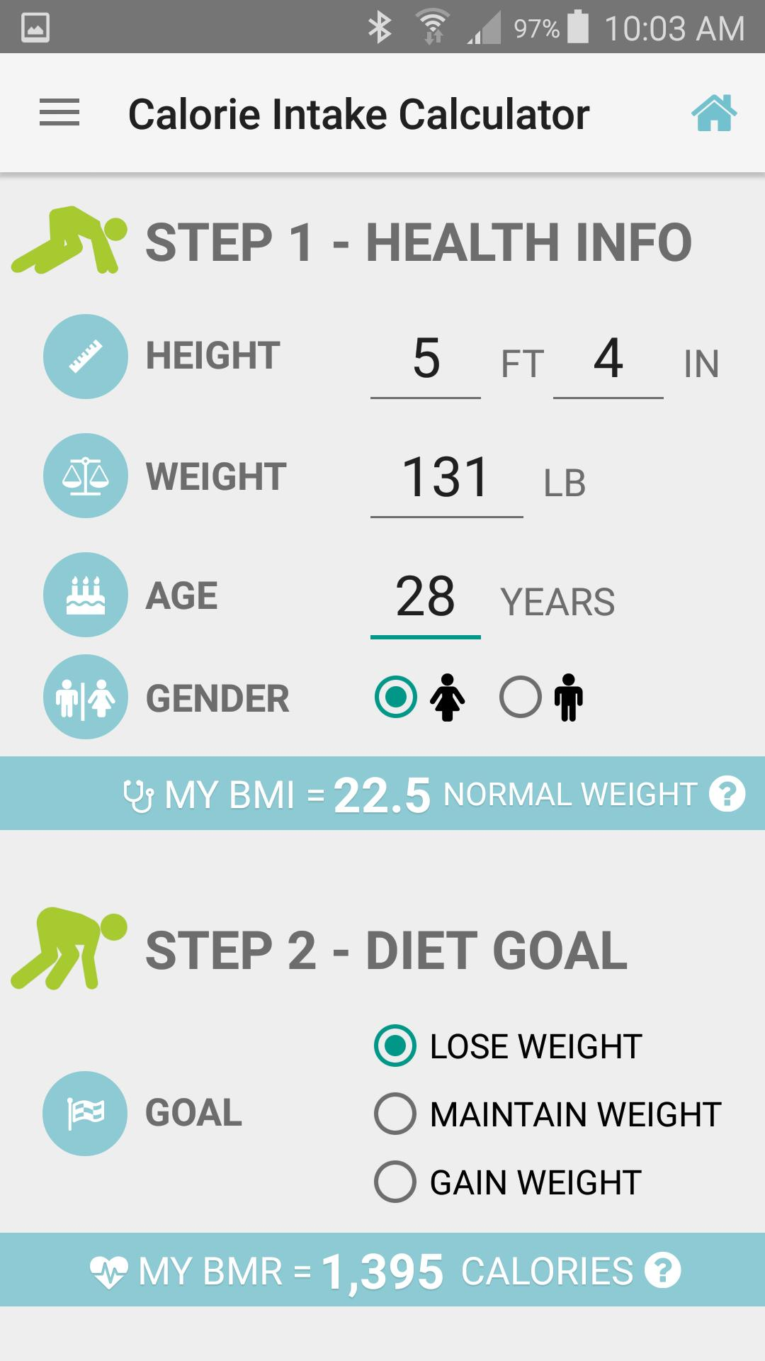 Calories Intake Calculator for Android - APK Download