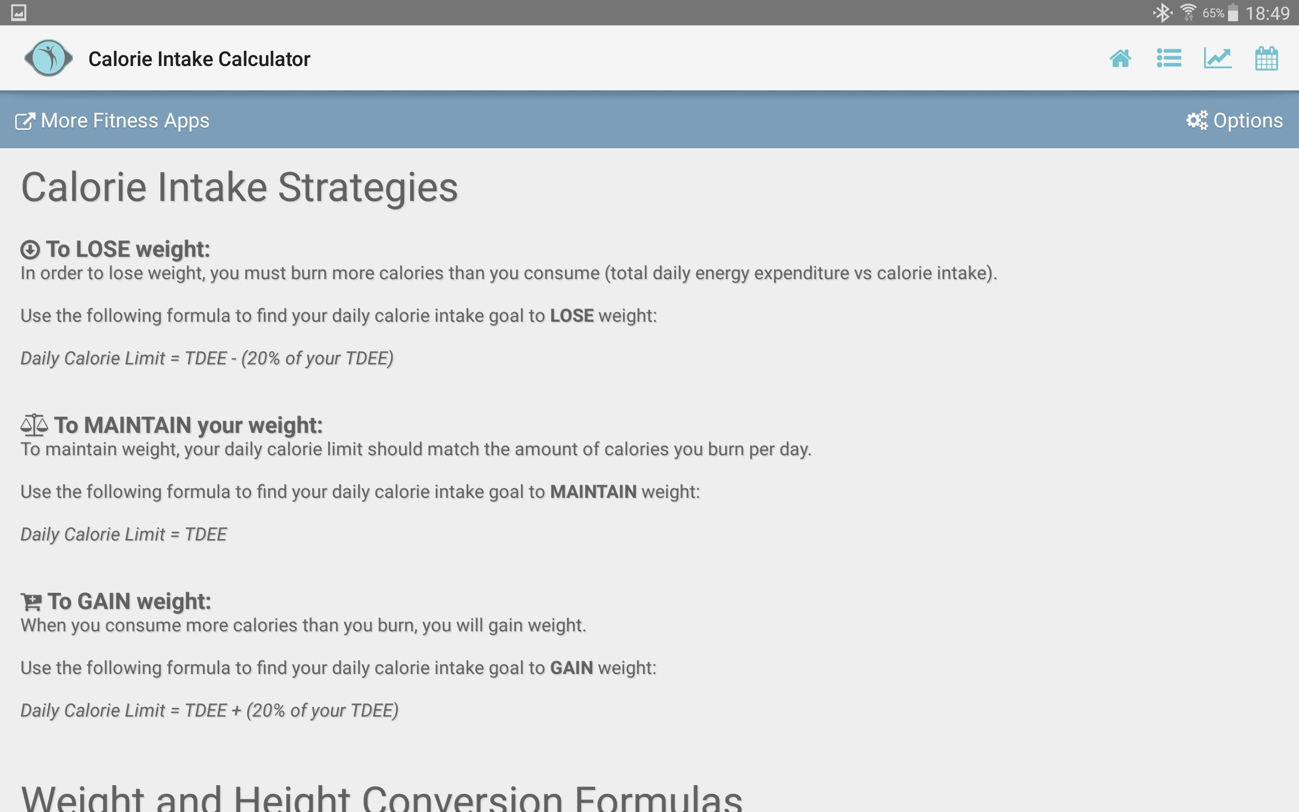 daily calorie intake to lose weight calculator
