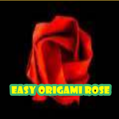 easy origami rose icon