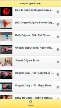easy origami rose poster